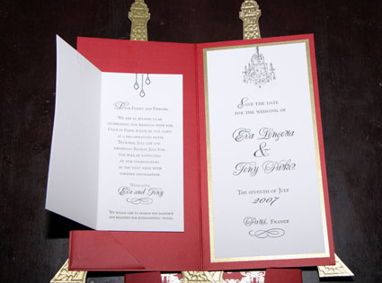 Eva Longoria, Tony Parker's Wedding Invite