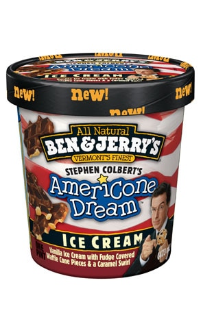 Ben & Jerry's Stephen Colbert ice cream