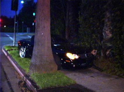 Lindsay Lohan's crashed car