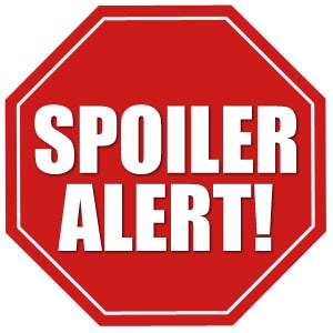 Spoilers: Spoiler Alert! Sign (White Background)
