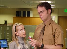 The Office: Rain Wilson, Angela Kinsey