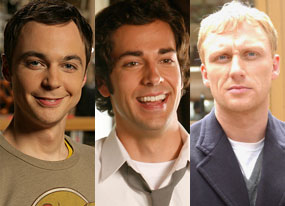 Jim Parsons (Big Bang Theory), Zachary Levi (Chuck), Kevin McKidd (Journeyman)