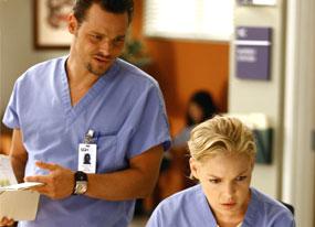 Justin Chambers, Katherine Heigl, Grey's Anatomy