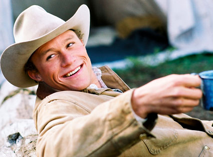 Heath Ledger in Brokeback Mountain