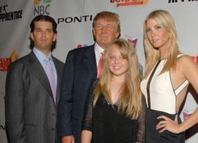 Donald Trump Jr, Donald Trump, Tiffany Trump, Ivanka Trump