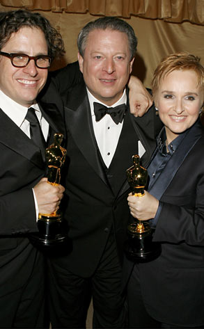 Davis Guggenheim, Al Gore and Melissa Etheridge