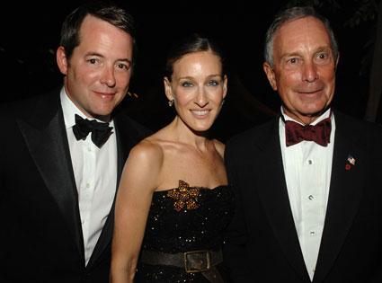Matthew Broderick, Sarah Jessica Parker, Mayor Bloomberg