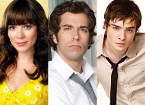 Anna Friel (Pushing Daisies), Zachary Levi (Chuck), Ed Westwick (Gossip Girl)