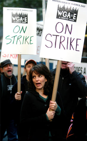 Tina Fey, Writers' Strike
