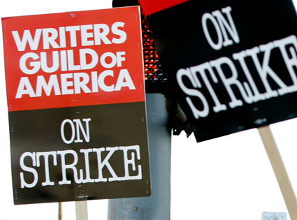 WGA Strike Signs