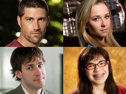 Matthew Fox (Lost), Hayden Panettiere (Heroes), John Krasinski (The Office), America Ferrera (Ugly Betty)