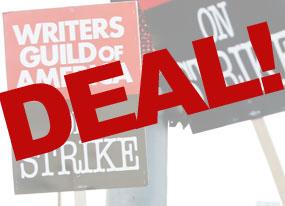 WGA Strike Graphic: Deal!