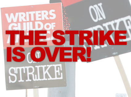 WGA Strike Graphic: The Strike Is Over!