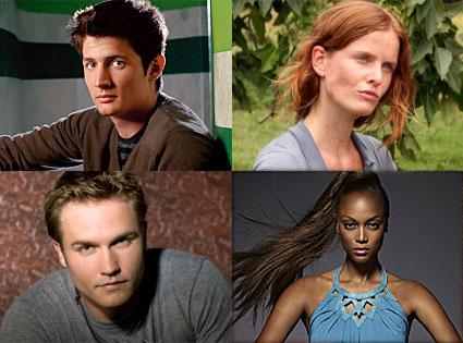 James Lafferty (One Tree Hill), Rebecca Mader (Lost), Scott Porter (Friday Night Lights), Tyra Banks (America's Next Top Model)