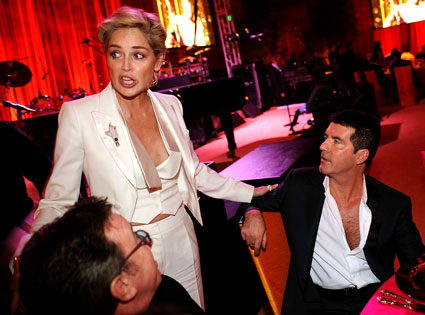 Sharon Stone, Simon Cowell