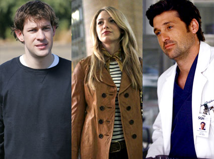John Krasinski (The Office), Blake Lively (Gossip Girl), Patrick Dempsey (Grey' s Anatomy)
