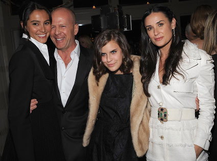 Bruce Willis, Emma Hemming, Demi Moore, Tallulah Willis