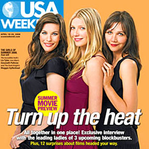 Liv Tyler, Gwyneth Paltrow, Maggie Gyllenhaal, USA Weekend