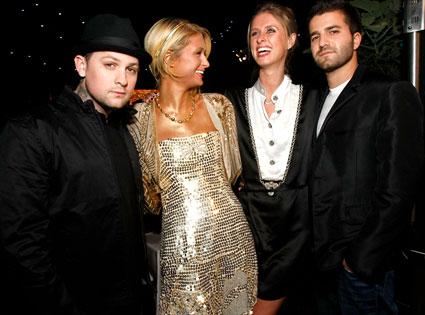 Paris Hilton, Benji Madden, Nicky Hilton, David Katzenberg