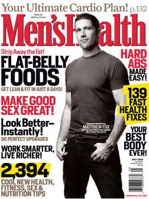 Matthew Fox, Men's Health Magazine