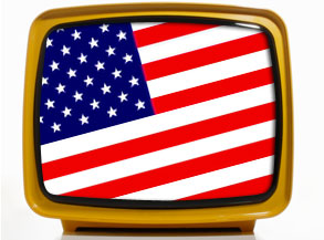 TV and US Flag