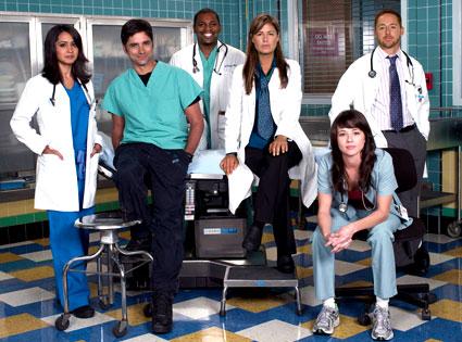 ER Cast: Parminder Nagra, John Stamos, Mekhi Phifer, Maura Tierney, Linda Cardellini, Scott Grimes