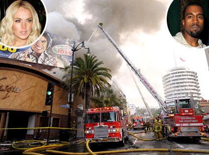 Basque Fire, Kanye West, Lindsay Lohan