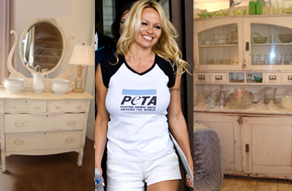 Pamela Anderson's Dresser and Kitchen Cabinet