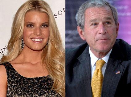 Jessica Simpson, George Bush