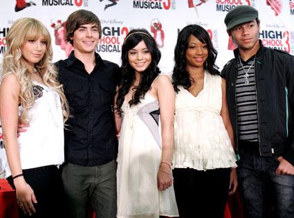 Ashley Tisdale, Zac Efron, Vanessa Hudgens, Monique Coleman, Corbin Bleu, High School Musical 3 Cast