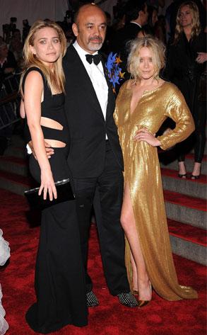 Ashley Olsen, Christian Louboutin, Mary-Kate Olsen