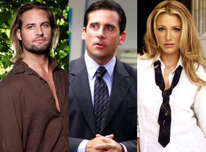 Josh Holloway (Lost), Steve Carell (The Office), Blake Lively (Gossip Girl)