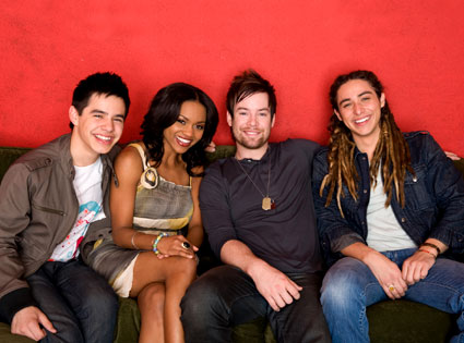 American Idol Season 7: Top 4 (David Archuleta, David Cook, Jason Castro, Sayesha Mercado)
