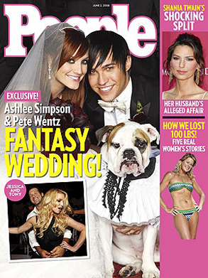 Ashlee Simpson, Pete Wentz People Magazine Cover