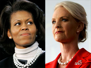 Michelle Obama, Cindy McCain