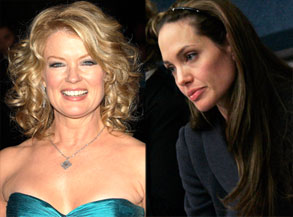 Mary Hart, Angelina Jolie