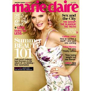 Kim Cattrall, Marie Claire Magazine