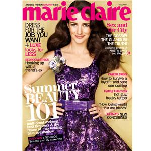 Kristin Davis, Marie Claire Magazine