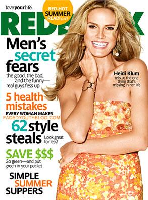 Heidi Klum, Redbook Magazine