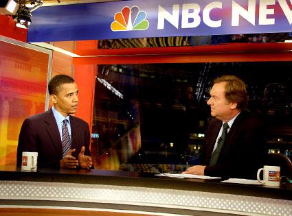 Tim Russert, Barack Obama