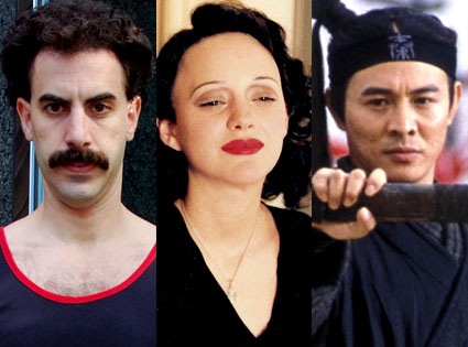 Sacha Baron Cohen, Marion Cotillard, Jet Li