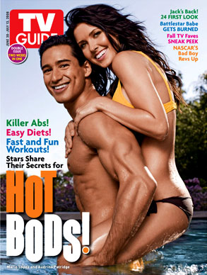 Mario Lopez, Audrina Patridge, TV Guide Magazine