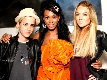 Samantha Ronson, Solange Knowles, Lindsay Lohan