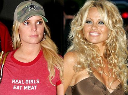 Jessica Simpson, Pamela Anderson