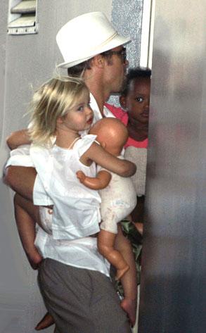 Brad Pitt, Zahara Jolie-Pitt, Shiloh Jolie-Pitt