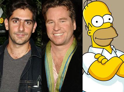 Michael Imperioli, Val Kilmer, Homer Simpson