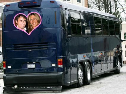 John Mayer, Jennifer Aniston, Tour Bus