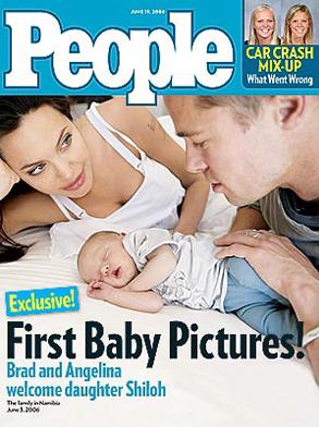 Angelina Jolie, Brad Pitt People Cover