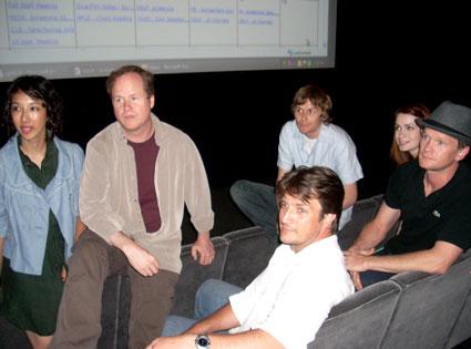 Maurissa Tancharoen, Joss Whedon, Nathan Fillion, Jed Whedon, Felicia Day, Neil Patrick Harris, Dr. Horrible's Sing-Along Blog