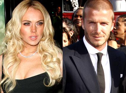 Lindsay Lohan, David Beckham